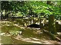 SE2741 : Redundant bridge, Golden Acre dam by Stephen Craven