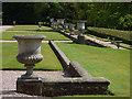 SJ7481 : Tatton Park gardens - urns by Stephen Craven