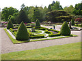 SJ7481 : Tatton Park gardens - mowing the verges of the terrace  by Stephen Craven