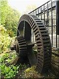 NS5574 : Gear wheel, Gavin's Mill, Milngavie by Richard Sutcliffe