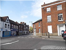 TL2433 : The end of High Street, Baldock by David Howard