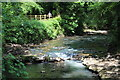 SO2800 : Pipe across Afon Lwyd, Pontypool by M J Roscoe