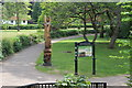 SO2800 : Wildlife statue, Pontypool Park by M J Roscoe