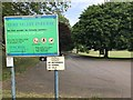 SJ8544 : Sign for Lyme Valley Park by Jonathan Hutchins