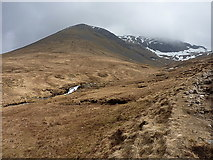 NN3139 : View across the burn to Beinn an Dòthaidh by Richard Law