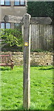 ST7581 : Cotswold Way Signpost, The Green, Old Sodbury, Gloucestershire 2017 by Ray Bird