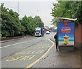 ST3089 : Frozen strawberry lemonade advert on a Crindau bus shelter, Newport by Jaggery