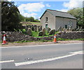 SO1730 : Damaged stone wall on the west side of the A479, Pengenffordd, Powys by Jaggery