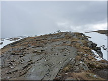 NN3239 : Rock slabs high on Beinn Dorain by Richard Law