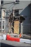 SO2956 : Crash damaged Burton Hotel by Philip Halling