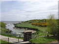SJ2176 : View from a Chester-Holyhead train - site of Dee Bank quay by Nigel Thompson