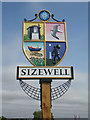 TM4562 : Sizewell Village sign on Sizewell Gap by Adrian Cable