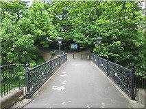 TA1181 : Footbridge  to  St  Oswald's  church  over  Church  Ravine by Martin Dawes