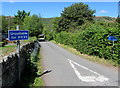 SO1723 : Unsuitable route for HGVs, Cwmdu, Powys by Jaggery