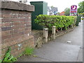 SJ2687 : Upton Bridge parapet in Greasby Road, Wirral by John S Turner