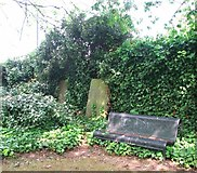 TG2309 : The Secret Garden - a seat beside old gravestones by Evelyn Simak