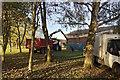 SP2965 : Picking up debris from tree-felling, St Nicholas Park, Warwick by Robin Stott