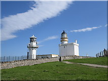 NJ9967 : Lighthouses old and new by Bill Harrison