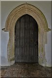 TG1508 : Bawburgh, St. Mary and St. Walstans' Church: South doorway by Michael Garlick