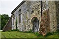 TG1508 : Bawburgh, St. Mary and St. Walstans' Church: Buttressing on the north wall by Michael Garlick