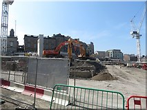 NT2574 : Building site beside Leith Street, Edinburgh St James by Graham Robson