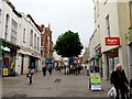 SO9522 : High Street in Cheltenham by Steve Daniels