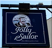 SX2553 : Jolly Sailor name sign, Princes Square, West Looe by Jaggery
