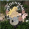TM3193 : Hedenham Village Sign by Roger Jones