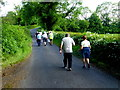 H4379 : First Omagh Church Walking Group along Carrigans Road by Kenneth  Allen