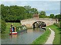 SP5465 : Narrowboat at Braunston Locks, Northamptonshire by Roger  Kidd