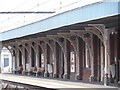 TQ3485 : Ironwork, Platform 3, Hackney Downs Railway Station by Robin Sones