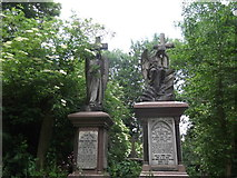TQ3386 : Memorials, Abney Park Cemetery, Stoke Newington High Street N16 by Robin Sones
