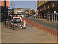 SE1632 : Cycle facilities on Broadway, Bradford by Stephen Craven