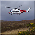 NG4829 : Coastguard helicopter at Sligachan by Ian Taylor