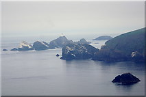 HP5917 : The stacks west of Hermaness Hill and Muckle Flugga from Tonga by Mike Pennington
