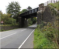 SO2508 : North side of Varteg Road railway bridge, Blaenavon by Jaggery