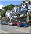 SX2553 : Dolphin House and Deganwy, Station Road, Looe by Jaggery