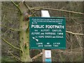 SK1592 : Peak & Northern Footpath Society sign #118 by Graham Hogg