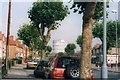 SP3383 : Foleshill Gas Tower as seen from Hen Lane by Niki Walton