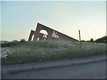 SO9389 : Sculpture on Duncan Edwards Way, Dudley by David Howard