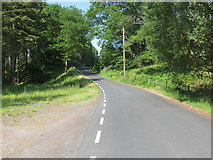 SN7673 : Road (B4574) heading towards Pont-rhyd-y-groes by Peter Wood