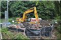 SO2800 : Construction of footbridge, Afon Lwyd, Pontypool by M J Roscoe