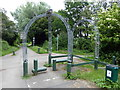TQ5805 : Sculpture on Cuckoo Trail by PAUL FARMER