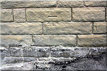 SE0724 : Benchmark on converted pub on Warley Road by Roger Templeman