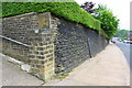 SE0724 : Wall pier at corner of boundary wall of 'Westroyd', #48 Warley Road by Roger Templeman
