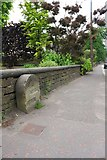 SE0724 : Defaced boundary stone beside Burnley Road by Roger Templeman
