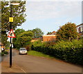 ST3091 : Two signs on a Larch Court lamppost, Malpas, Newport by Jaggery