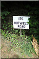 TF4905 : 175 Outwell Road sign by Adrian Cable
