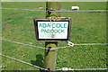TL9991 : Ada Cole Paddock sign on Ada Cole Avenue by Adrian Cable