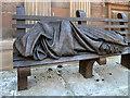 SJ8398 : Homeless Jesus, St Ann's Square by David Dixon